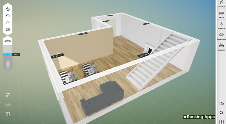 Amikasa aplicación para hacer planos de casas en 2D y 3D