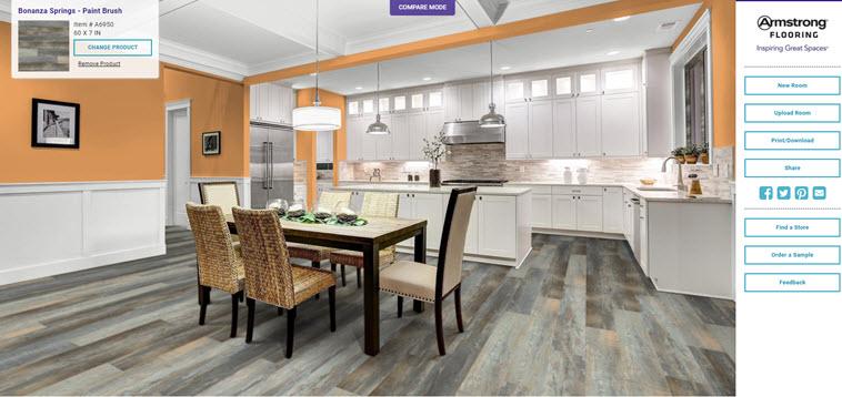 Aplicación de diseño de interiores que permite ver cambios y organizar los muebles de manera rápida