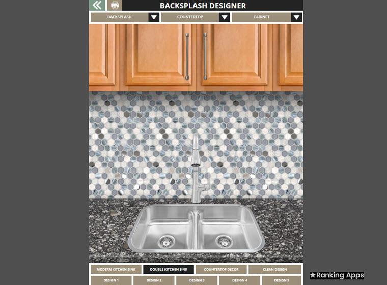 App Backsplash o app salpicadero, para elgir azulejos, cerámicos de cocina