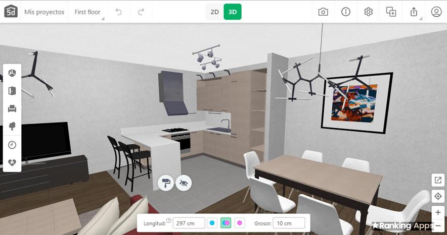 Planner 5D diseño de interiores de cocina
