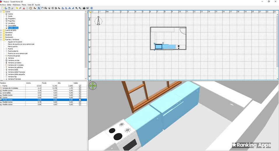 Sweet Home 3D software gratis de diseño de planos e interiores, descarga en windows y vía web