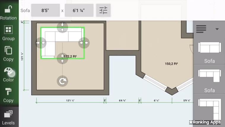 Floor Plan Creador generador de planos online y para dispositivos móviles