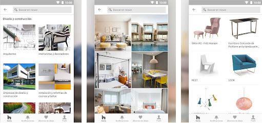 Houzz, aplicación de diseño de interiores e inspiración para estilos de decoración