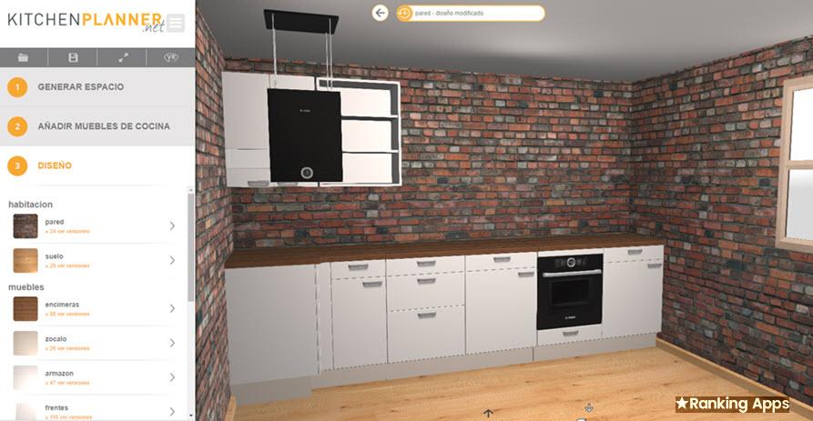 Kitchen Planner, aplicación para renovar la cocina con equipamiento en 3D