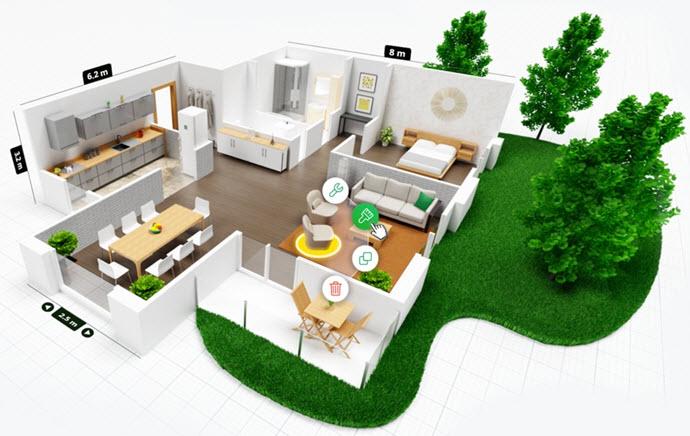 Creación de planos de diseño interior