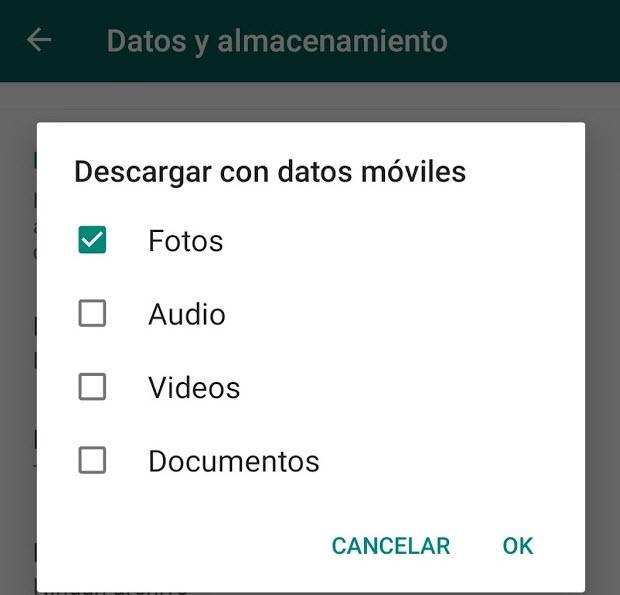 Truco para ahorrar el consumo de datos móviles usando la aplicación Whatsapp