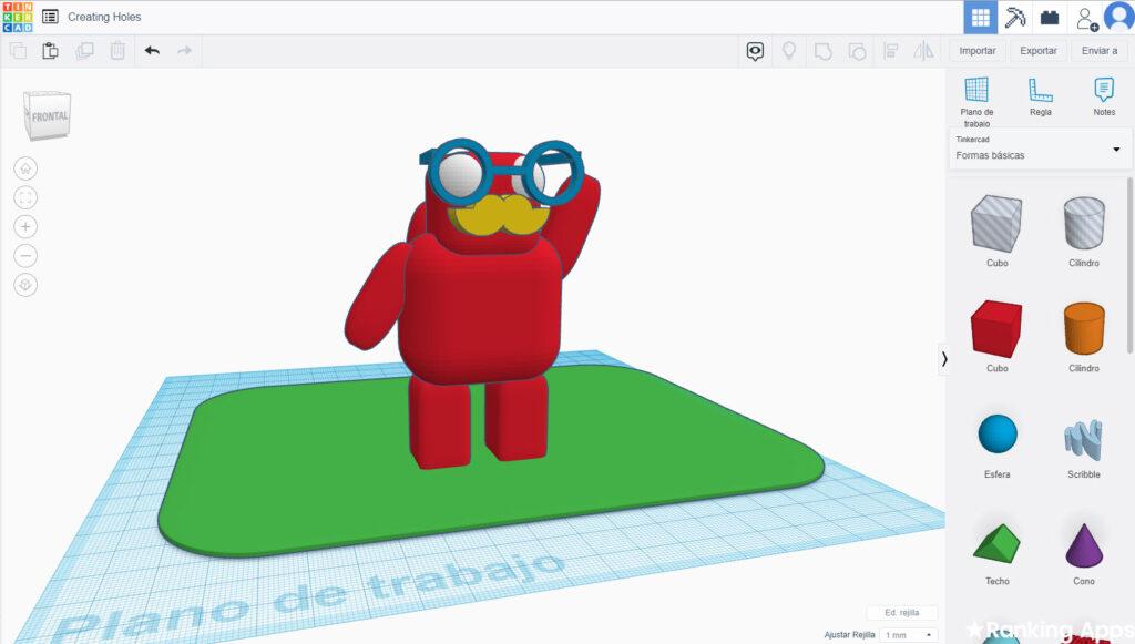 Aplicación de diseño 3D gratis, modelado con figuras y formas listas